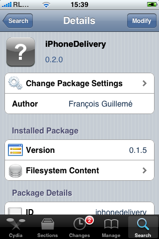 Install iPhoneDelivery